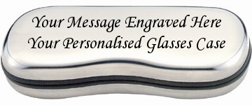 GLASSES CASE STEEL - ENGRAVED PERSONALISED GIFT Bshape
