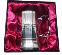 Tankard Mug Stainless Steel Engraved free - Luxury Gift Box Red liner