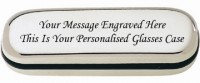 PERSONALISED ENGRAVED STEEL METAL GLASSES CASE
