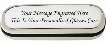 PERSONALISED ENGRAVED STEEL METAL GLASSES CASE We will engraved Your message on the case