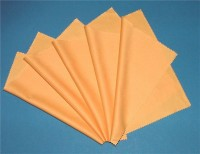 5 microfibre cloths (gold colour)