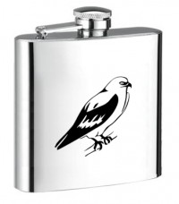 Personalised ENGRAVED STEEL HIP FLASK EAGLE hf13