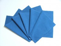5 microfibre cloths (blue colour)