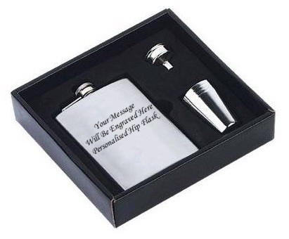 HIP FLASK IN GIFT BOX + FUNNEL + 4 SHOTS + ENGRAVING HIP FLASK IN GIFT BOX + FUNNEL + 4 SHOTS + ENGRAVING